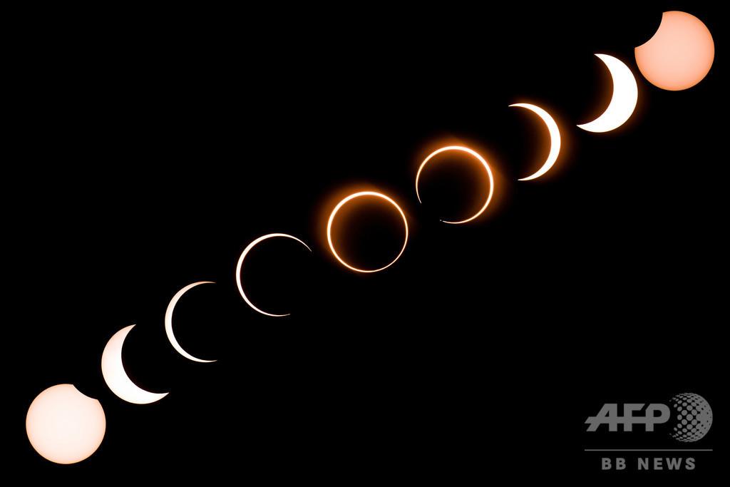金環日食、中東から東南アジアで観測