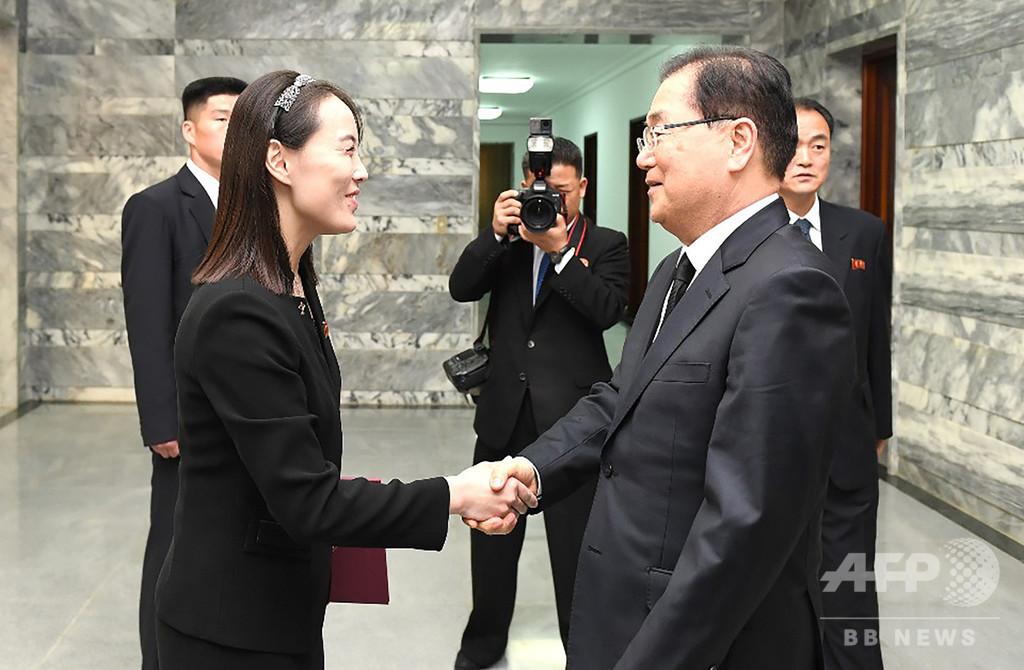 金正恩氏の妹、亡くなった韓国元大統領夫人への弔意伝達