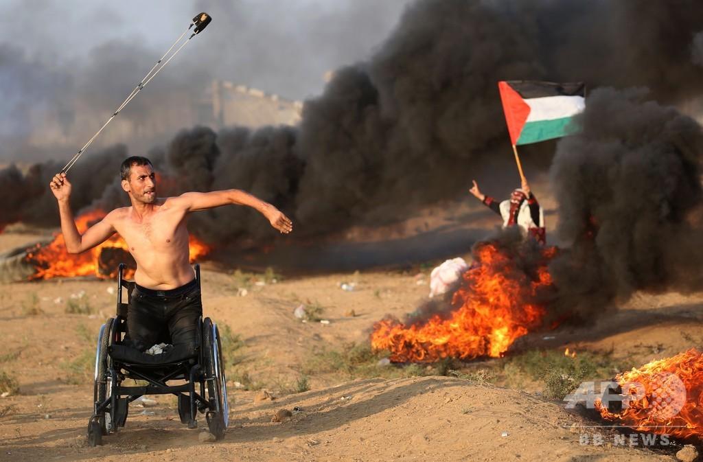 ガザ境界で新たな衝突、12歳少年らパレスチナ人7人死亡