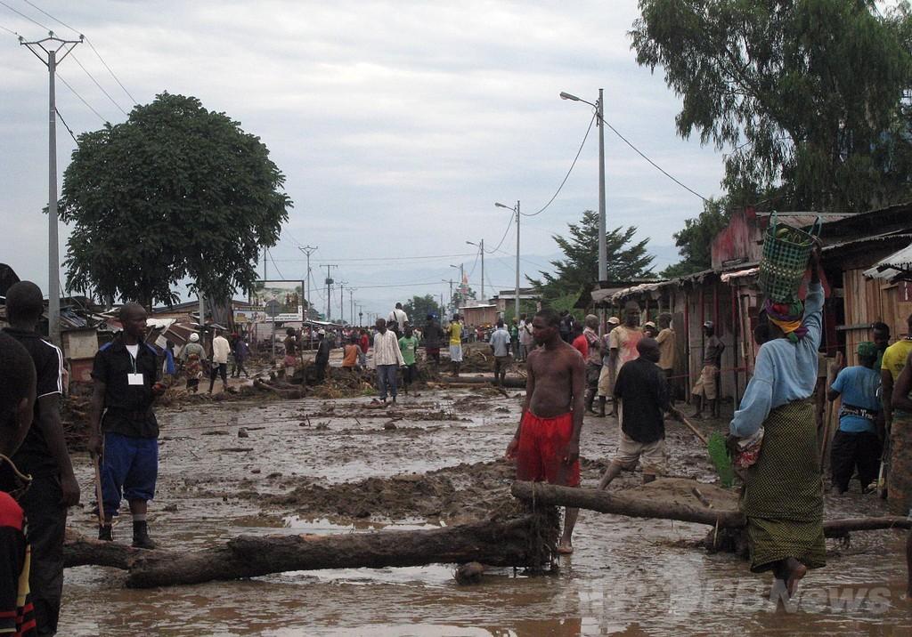 ブルンジ首都で記録的豪雨、洪水による死者51人