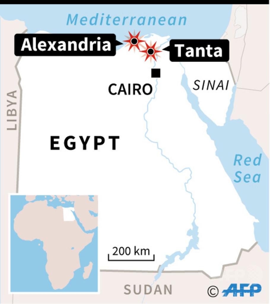 エジプト北部、別の教会でも爆発 少なくとも11人死亡