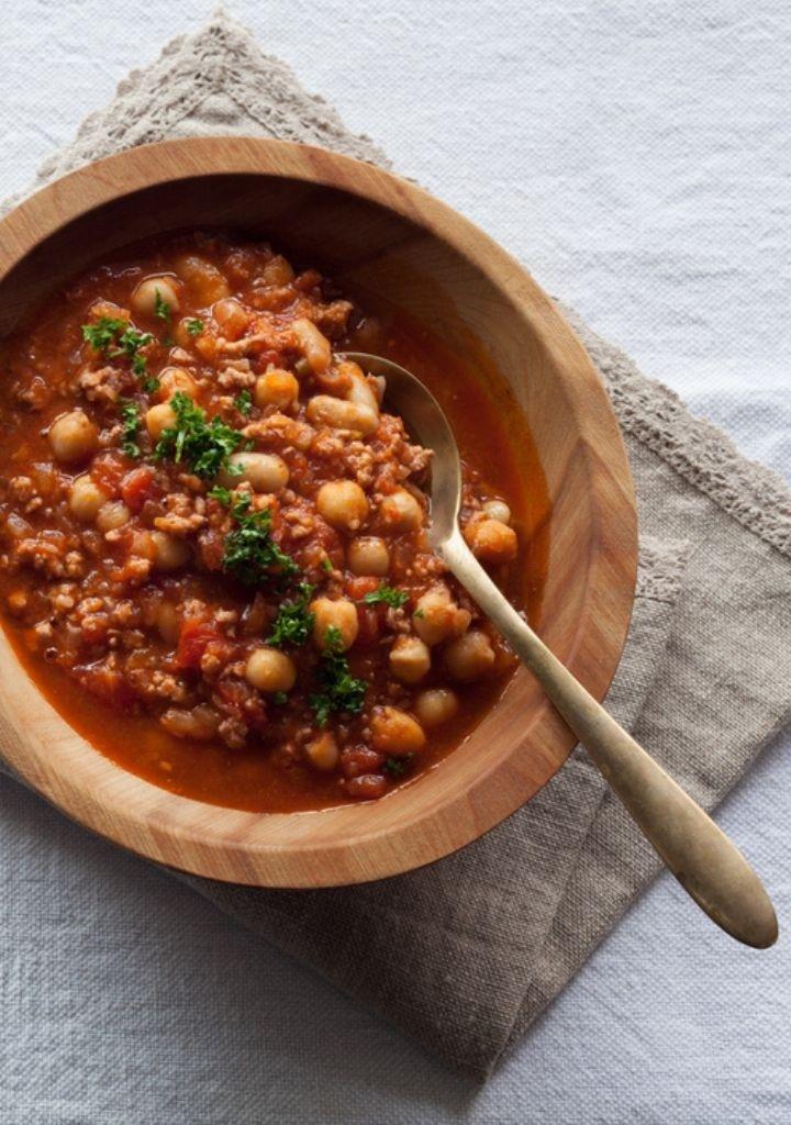 <La Cuillère de marie claire style>第16回 ひき肉と2種の豆の辛い煮込み