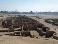 エジプト・ルクソール近郊で発見された古代都市遺構。考古省提供(撮影日不明、2021年4月8日公開)。(c)AFP PHOTO / HO / EGYPTIAN MINISTRY OF ANTIQUITIES