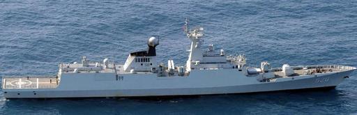 中国海軍艦が海自護衛艦にレーダー照射