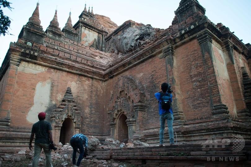 ミャンマーでM6.8の地震、3人死亡 バガンの仏塔が多数損壊