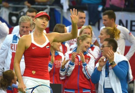 シャラポワ勝利でロシアが1勝1敗に持ち込む、フェドカップ