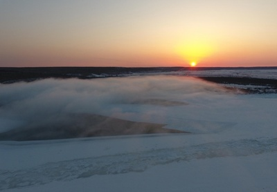 極寒の風景 黒竜江の呼瑪河