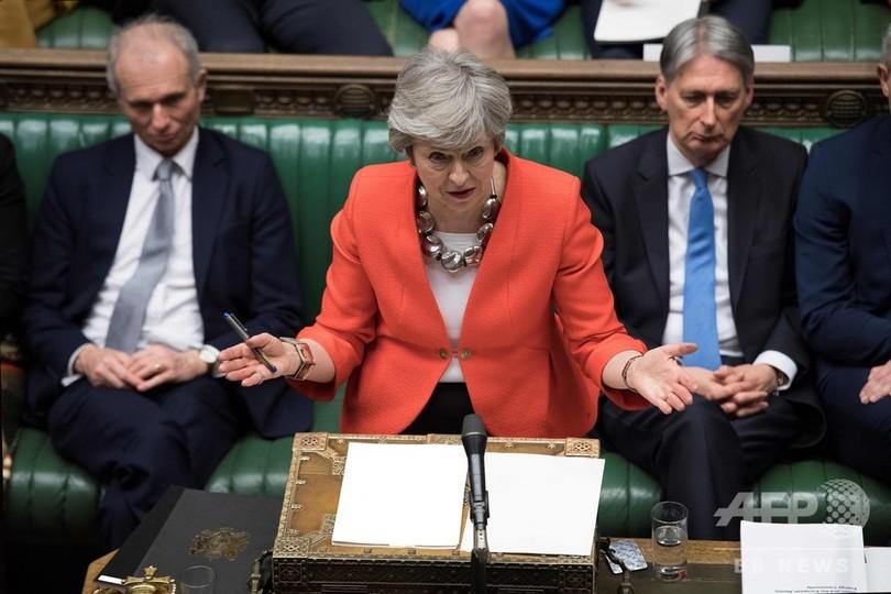 英議会、EU離脱案を再び否決