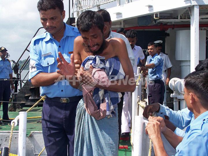 タイ海軍、ロヒンギャ難民数百人を洋上に置き去りか インドが救出