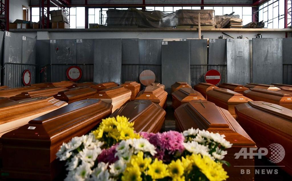 イタリアの死者8000人超える、火葬追い付かず 新型コロナ