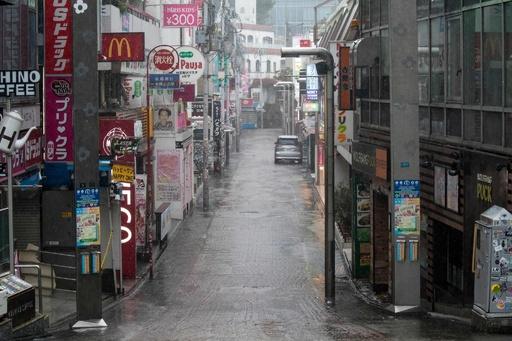 台風19号、伊豆半島に上陸 東京都心も人影まばらに