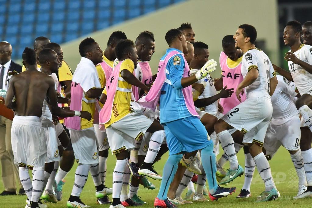 ガーナが赤道ギニアを退け決勝進出、アフリカネーションズカップ