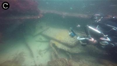 動画:約400年前のポルトガル難破船、川底で発見
