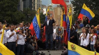 動画:ベネズエラ野党指導者が「暫定大統領」宣言 米国など支持表明