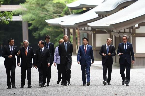 G7開幕、各国首脳が伊勢神宮に