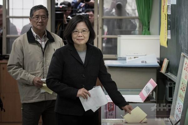 3候補が投票=「結果に自信」「投票を期待」-台湾総統選