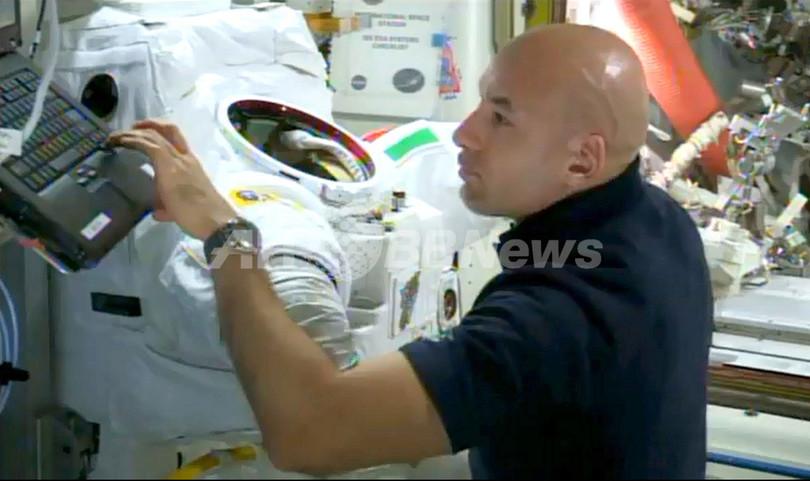 ヘルメット内に液体、宇宙飛行士が恐怖の体験振り返る