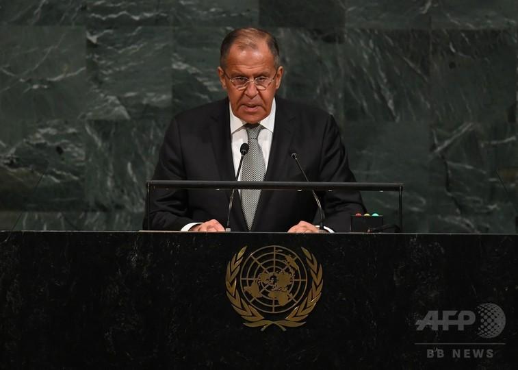 ロシア外相、北朝鮮めぐる「軍事ヒステリー」を非難 対話求める