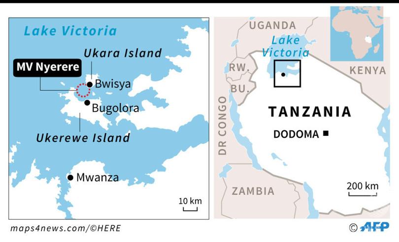 アフリカ・ビクトリア湖のフェリー転覆事故、死者130人超に