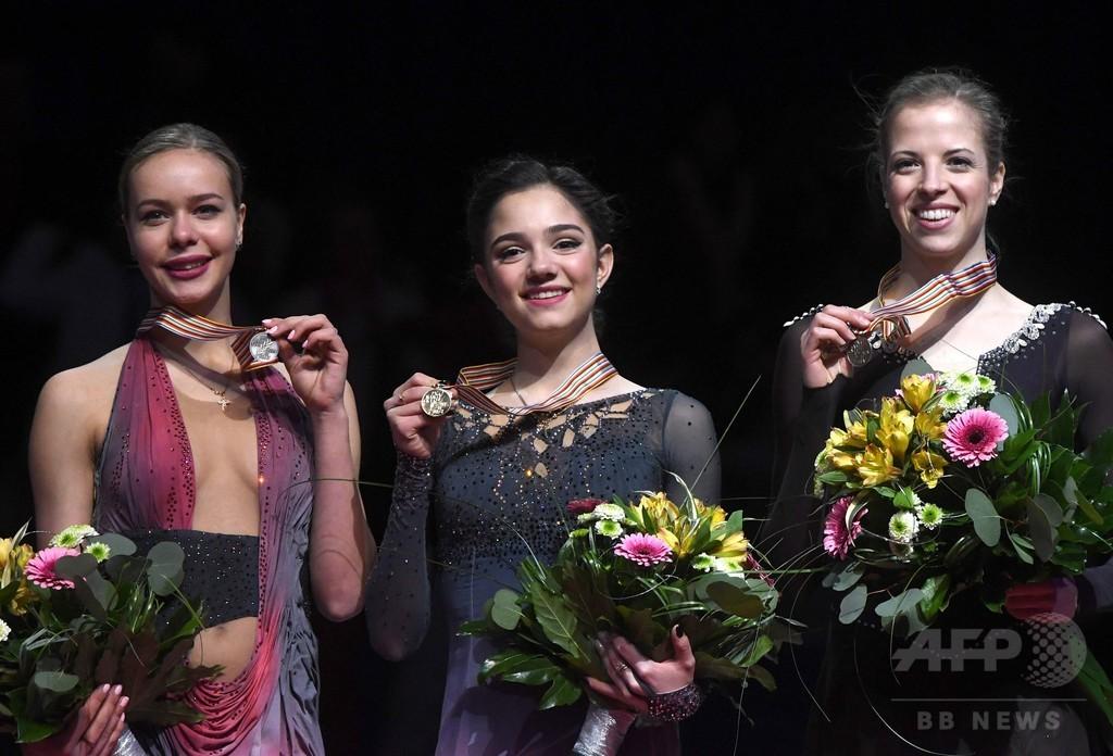 メドベデワが欧州選手権連覇、歴代最高得点を樹立