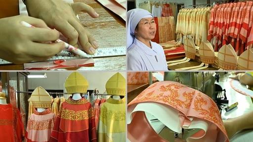 動画:法王の来訪控えて…祭服作りや歓迎行事の準備に大忙し タイ