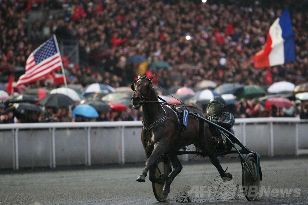 馬車レース「アメリカ賞」、仏バンセンヌ競馬場で開催