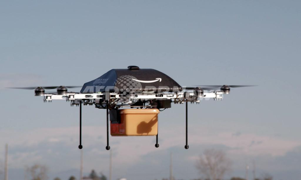 米アマゾン、無人機での商品配達サービス計画を発表