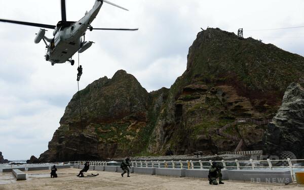 韓国、竹島で「防衛訓練」開始 19日まで