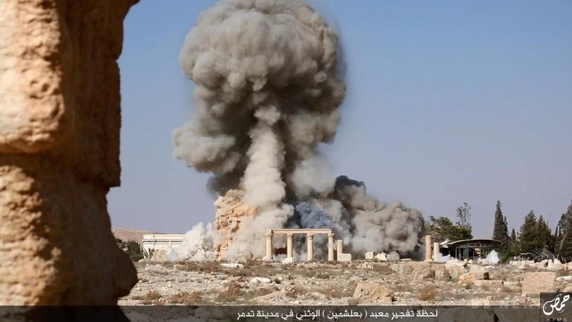 パルミラ神殿破壊の画像、ISが公開