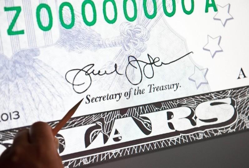 幻となったドル紙幣の「ぐるぐる模様」、米財務長官が署名変更