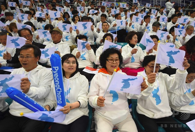 統一旗で合同入場、南北朝鮮が合意 平昌五輪
