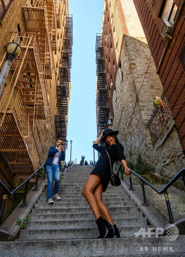 『ジョーカー』で象徴的なロケ地の階段、観光名所に 米NY
