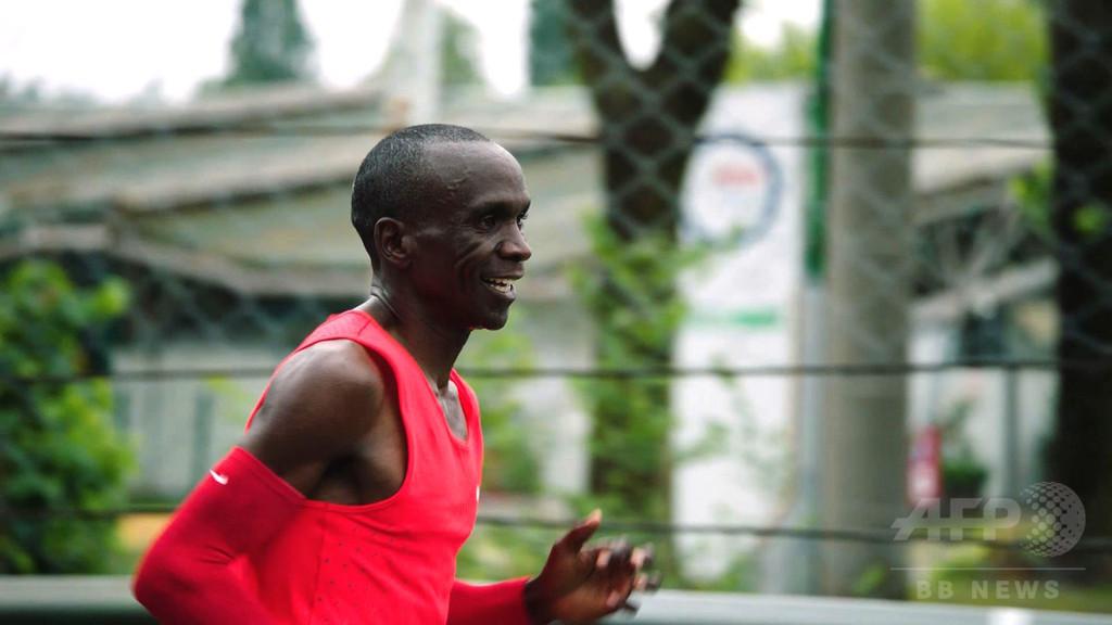 フルマラソン2時間切りに挑戦、キプチョゲ惜しくも達成ならず