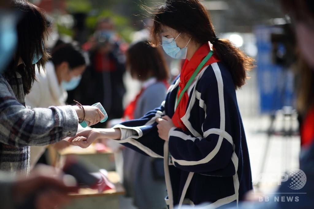 中国・南京の小学校で授業再開、その前には感染症対策の訓練実施