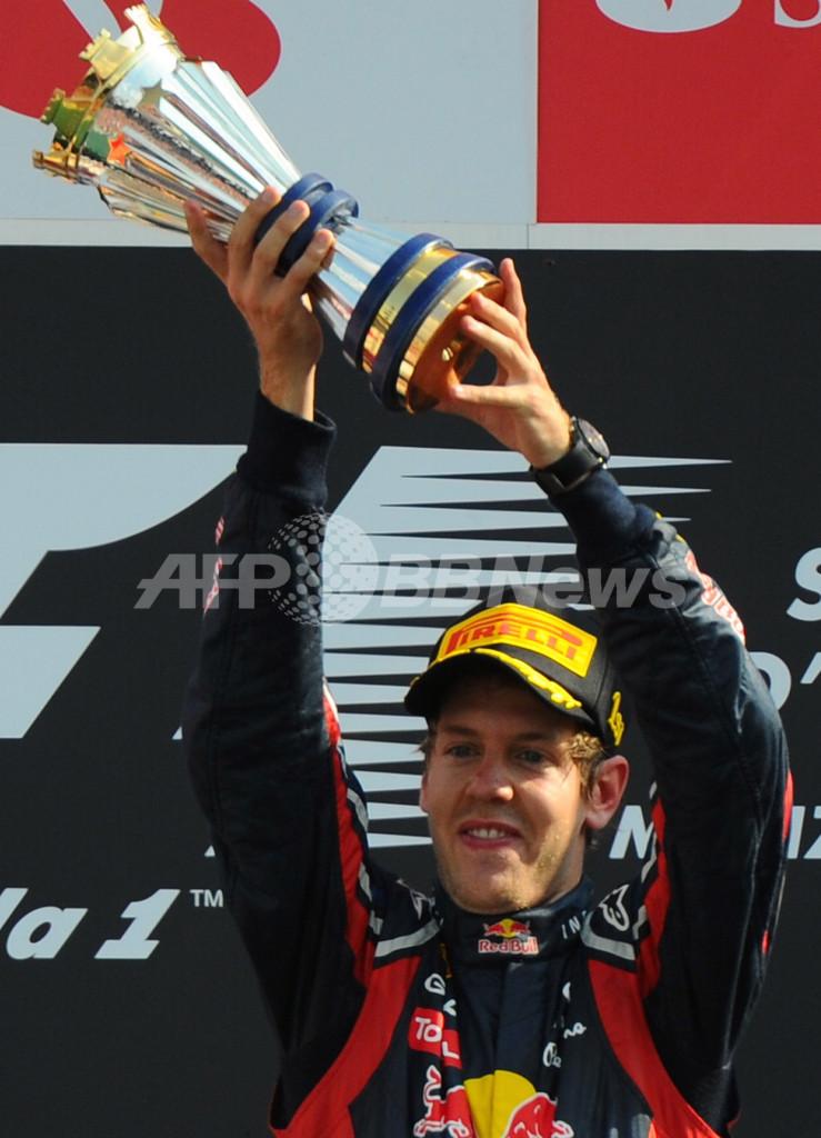 ベッテルがシーズン8勝目 可夢偉はリタイア、F1イタリアGP