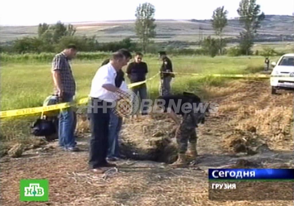 ロシア、グルジア領空を侵犯・空爆か、ロシア政府は否定