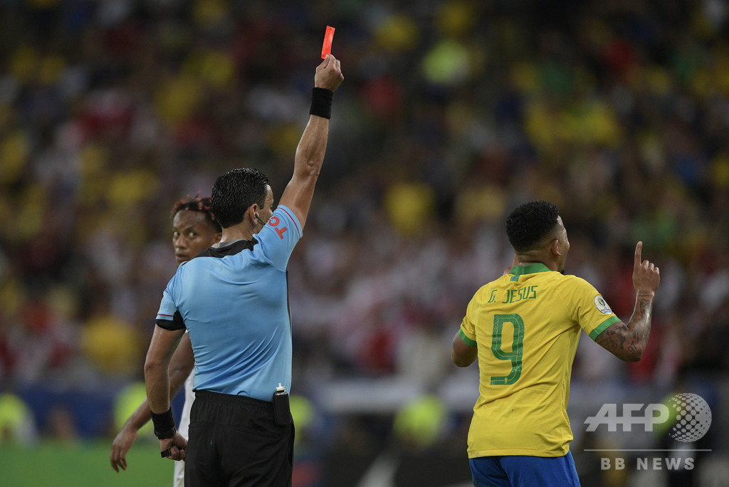コパ決勝で退場のブラジル代表ジェズス、2か月間の出場停止に