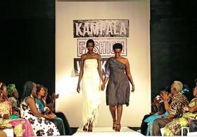 ウガンダ現大統領の娘も新作発表、カンパラで初のファッションショー