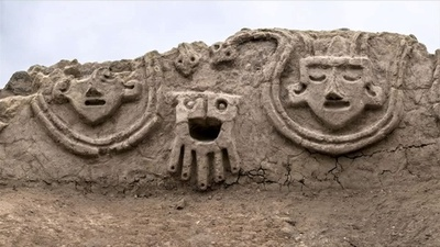 動画:3800年前の壁画、南米ペルーで発見