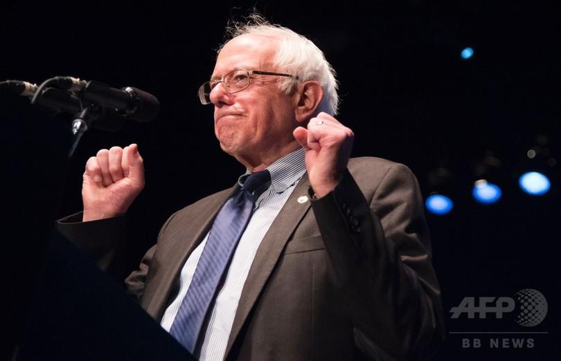 米大統領選、サンダース氏がハワイも制し3州で全勝 民主党員集会