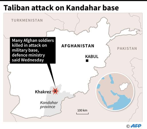 アフガン南部で軍基地襲撃、兵士26人死亡 タリバンが犯行声明