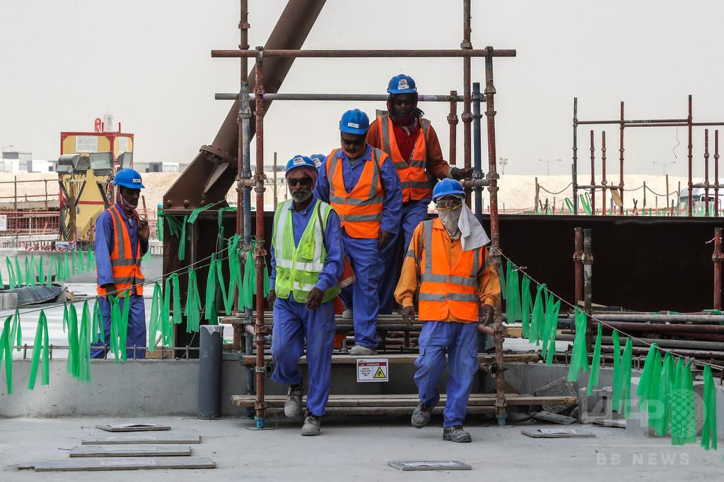 カタールW杯の建設現場、最長148連勤の過酷環境が判明