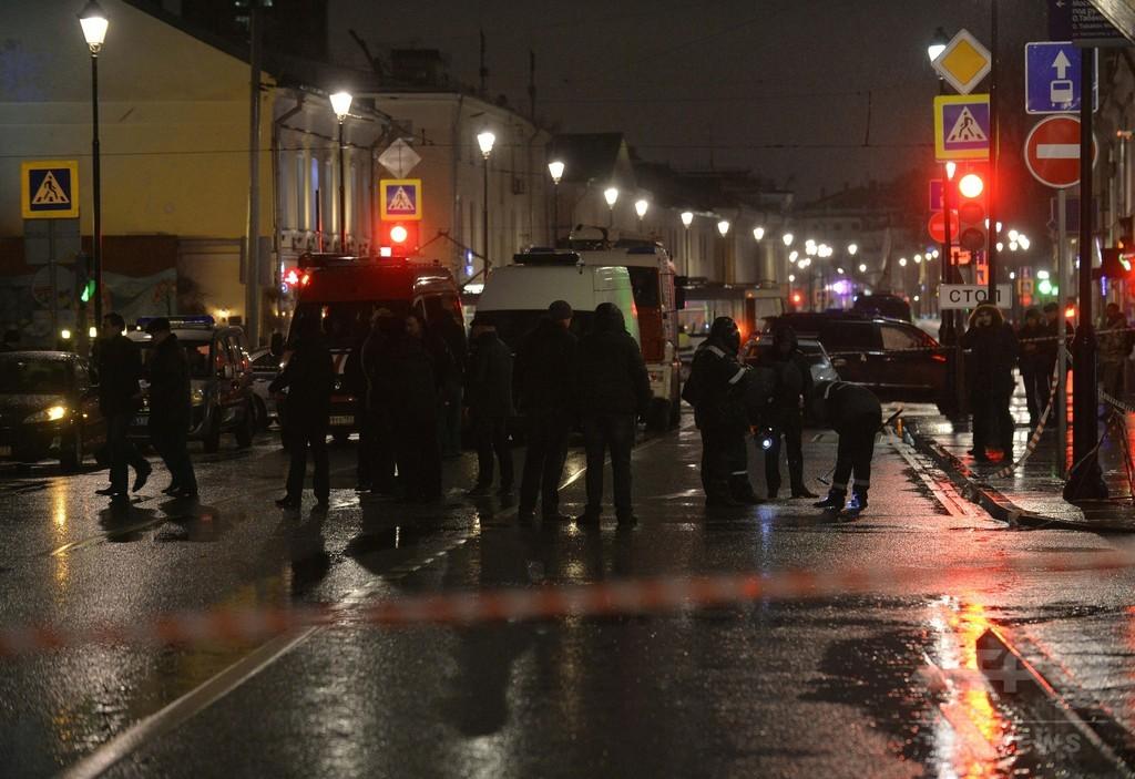 モスクワのバス停で爆発、3人けが