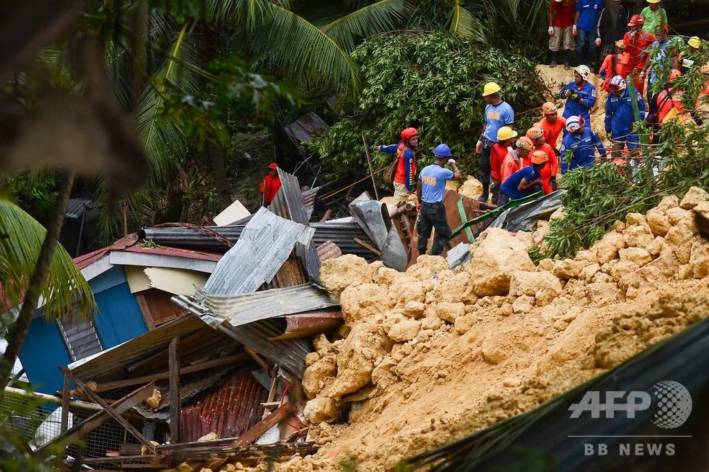 豪雨の比セブ島で土砂崩れ 12人死亡、50人以上行方不明