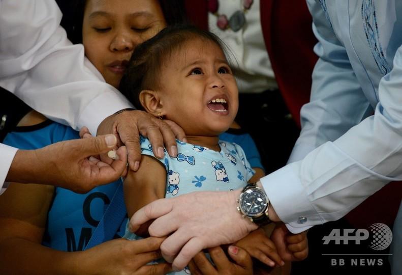 フィリピンで麻疹流行、1月だけで1813人感染 25人死亡