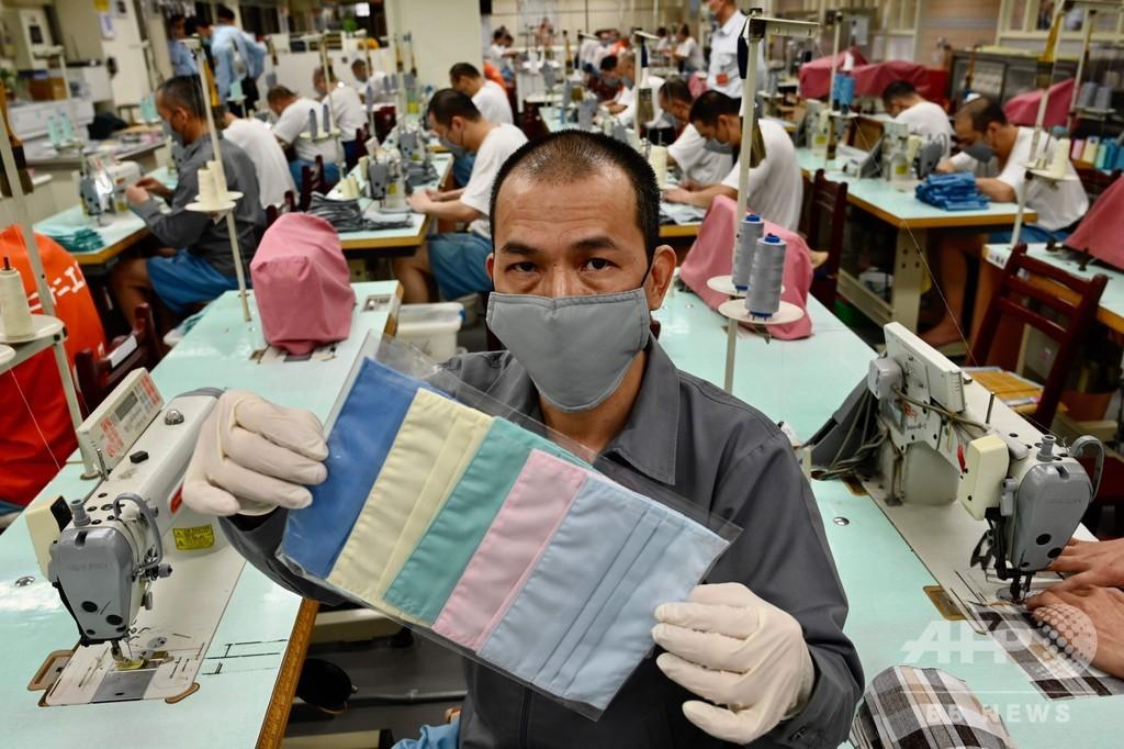 台湾の受刑者らがマスク製造、コロナ流行で新たな刑務作業