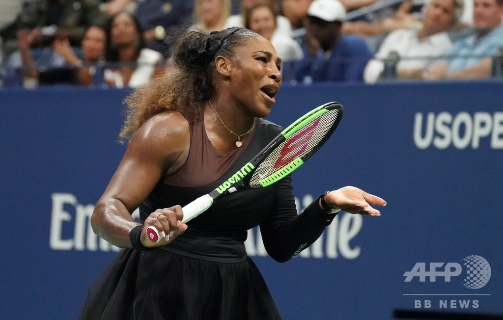 物議醸すセレーナへの罰則、WTAトップも二重基準を非難 全米OP