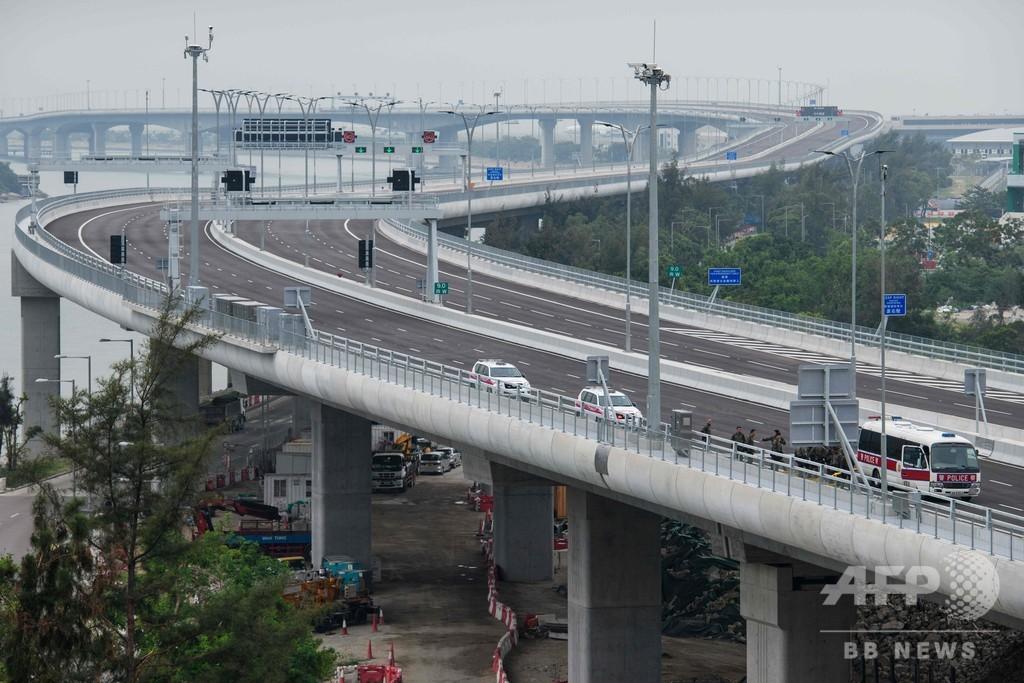 世界最長の海上橋、中国で開通式 香港・マカオ・珠海つなぐ55キロ