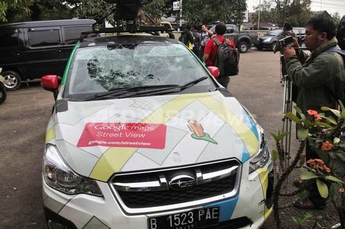 ストリートビュー車両、当て逃げ繰り返す インドネシア