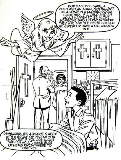 米カトリック教会聖職者による子どもの性的虐待を防ぐ塗り絵を配布